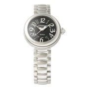 【85%OFF】ラウンドウォッチ ウィメンズ ケース:ブラック ベルト:シルバー ファッション > 腕時計~~レディース 腕時計