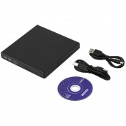 ER USB 2.0 External CD ± RW DVD ± RW Escritor DVD-RAM Quemador Drive Para PC Portátil (Negro).