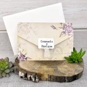 Invitatie de nunta cu tematica florala cod 39313