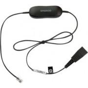 Jabra 88001-99 Smart Cord - Kabel voor telefoonhoorn - zwart - voor Cisco IP Phone 78XX; BIZ 2300; Mitel 74XX; Dialog 42XX, 44XX, 5446; Snom 71X