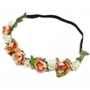 Guirnalda Sombreros Mujer Flores De La Venda Del Pelo - Naranja