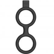 Elektroshock Shots S elektromos pénisz és heregyűrű - fekete