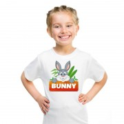 Shoppartners T-shirt wit voor kinderen met Bunny het konijn