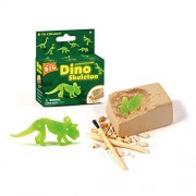Wow Toys Glow-in-The-Dark Dinosaur Excavation Dig for Kids, Educational with Glowing Skeleton