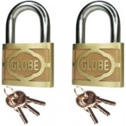 Maxed Globe Pressing Padlock 2 Inch C2 Safety Lock(Multicolor)