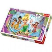 Puzzle Tinkerbell cu 4 zane prietene 100 pcs Trefl