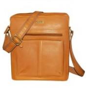 Kan Tan Premium Quality Leather Messenger Bag/Sling Bag/Backpack for Men & Women 7 L Backpack(Tan)