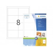 Herma 4280 Etiketter 97 x 67.7 mm Papper Vit 800 st Permanent Universaletiketter, Adressetiketter Bläck, Laser, Kopia 100 Papper DIN A4
