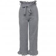 Trousers Checked Ruffle - Broeken