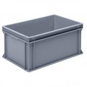 Euro-Stapelbehälter aus Polypropylen (PP) Traglast 20 kg, silbergrau Inhalt 53 l, Außenhöhe 280 mm, VE 2 Stk