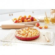 Moule à tarte en céramique 28 cm rouge Mathon