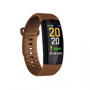 LIUJING Rastreador de ejercicios con monitor de frecuencia cardíaca, reloj podómetro Pulsera de ejercicios Rastreador de actividad de natación a prueba de agua Análisis del sueño Contador de calorías Bl