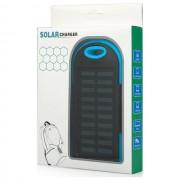 Maxy Caricabatterie Solare F1 Power Bank Carica Batteria Usb 6000mah Universale Blu Per Modelli A Marchio Samsung