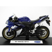 Welly 1:18 Yamaha Yzf-R1 Diecast Motocycle 2008 Model Collection (Blue) (L x W x H),11 x 6 x 3.5