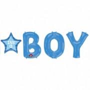It's a boy 86 cm-es csomagolt kék fólia lufi