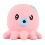 """Anboor 5.3"""" Squishies Giant Octopus Jumbo Slow Rising Kawaii Scented Soft Animal Squishies Toys Color Random"""