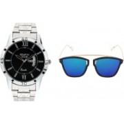stuffy club Analog Watch, Wrap-around Sunglass Combo(Multicolor)
