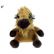 Puzzled Buffalo Big Eyes Soft Stuffed Plush Cuddly Animal Toy - Animals / Wild Farm Theme 6 Inch (5237)