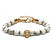 Pulseira Masculina North Gold White Special Edition