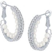 Sikka Jewels Appealing Rhodium Plated Australian Diamond Earring