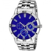 idivas 111 TC 03-1010A Blue Dial Stainless Steel Watch- For Men 6 month warranty