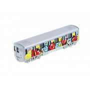 Shing Fat Mta New York City Metro Subway with Graffiti 7 Diecast Model 1:100 Scale