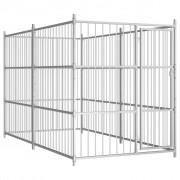 vidaXL Padoc de câini pentru exterior, 300x150x185 cm