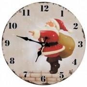 Ceas de perete Santa Claus