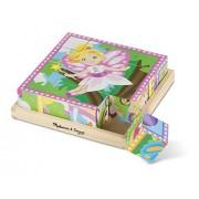 Melissa & Doug Princess and Fairy Cube Puzzle, Multi Color