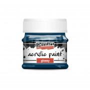 Pentart Fényes indigókék színű akril bázisú hobbi festék 50 ml