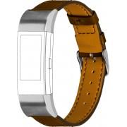 topp Accessoires Ersatz-/Wechselarmband »Leder mit Ziernaht für Fitbit Charge 2«, Braun