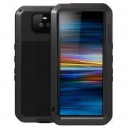 Love Mei Powerful Sony Xperia 10 Hybrid Case - Black