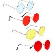 Phenomenal Round Sunglasses(Blue, Red, Yellow)