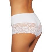 107 női short alsó csipkével, fehér S