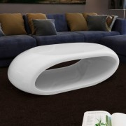vidaXL Coffee Table Hollow White