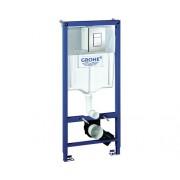 Rezervor WC incastrat Grohe Rapid SL 3 in 1, cu cadru de instalare si clapeta de actionare Skate Cosmopolitan, 6-9 l, 50x113 cm, set de prindere in perete