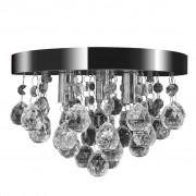 vidaXL Candelabru cu cristale, design cromat