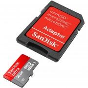 Memoria SanDisk Ultra SDSDQUAN-016G-G4A, MicroSDHC UHS-I Clase 10 6GB Adaptador