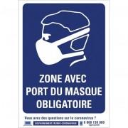 Rolléco Panneau port du masque PVC