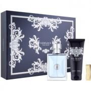 Versace Pour Homme lote de regalo XVIII. eau de toilette 100 ml + champú para todo el cuerpo 100 ml + clip para billetes