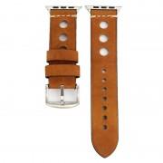 Voor Apple Watch serie 3 & 2 & 1 42mm Retro gat lederen pols horloge Band(Brown)