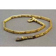 Zlatý náramok dámsky hranaté tvary so vzorom VN18369