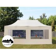 3x6m összecsukható pavilon panoráma ablakos Bézs Professional ()