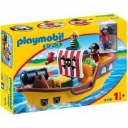 Playmobil 123 - Barco Pirata Con Cañon Lanza Agua - 9118