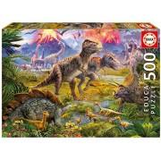 Dinosaur Gathering - Educa 500 Piece Puzzle
