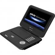 """Silva Schneider DVD 926 USB Prijenosni DVD player 23 cm 9 """" Uklj. 12V auto kabel za napajanje Crna"""