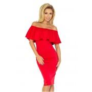 numoco Červené šaty s volánkem model 4977157 M