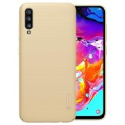 Nillkin Super Frosted Shield Samsung Galaxy A70 Cover - Goud