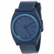 Nixon Mens A1191309-00 Time Teller P Analog Display Japanese Quartz Blue Watch