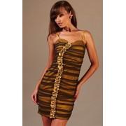 Doris sukienka (miodowo-brązowy)